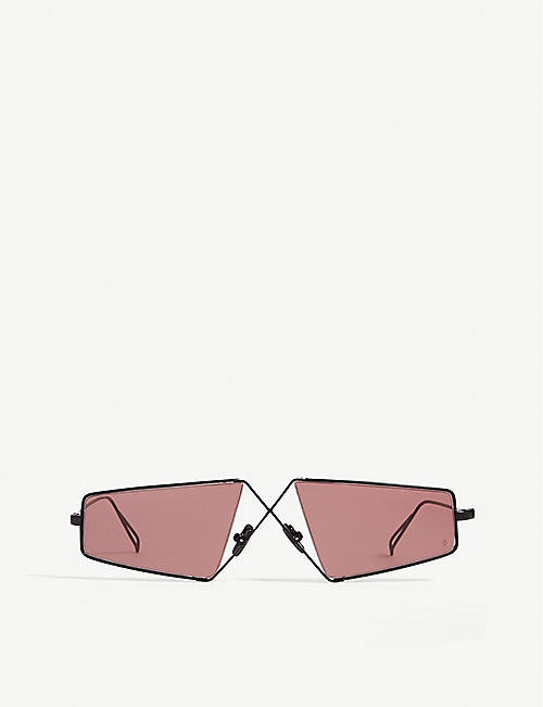 NATURE OF REALITY (NOR): Irregular-frame cross-bridge sunglasses