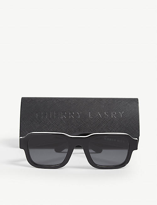 THIERRY LASRY Enfants Riches Déprimés The Isolar 2 square-frame sunglasses