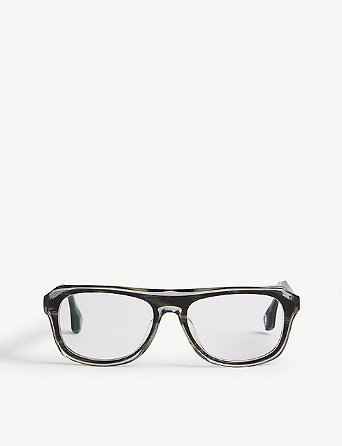 BLAKE KUWAHARA: Gilbert acetate square-frame glasses