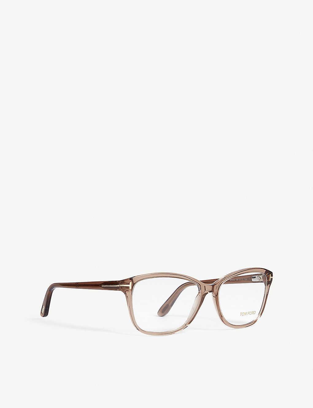 58cfb36da3ed3 ... Tf5404 rectangle-frame optical glasses - Brown ...