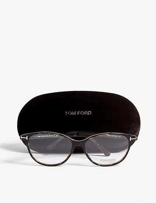 TOM FORD Tortoiseshell Tf5421 cat-eye optical glasses