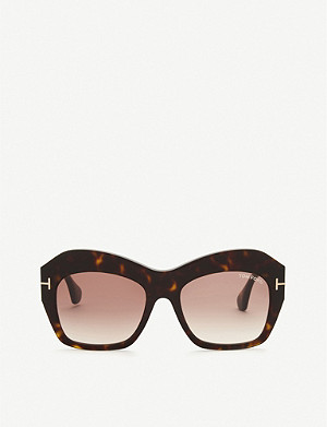 TOM FORD Ondria irregular sunglasses