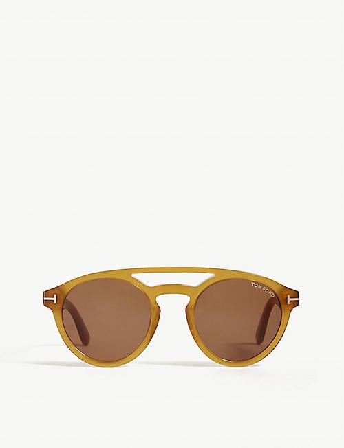 2f2378458a5f BVLGARI Clint round-frame sunglasses
