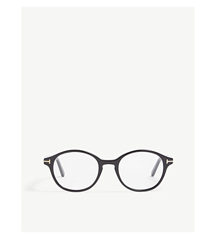 d7d58f6fe6 TOM FORD FT5428 round-frame glasses (Black