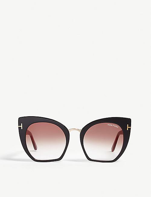 04d9fec2c028 TOM FORD Samantha-02 TF553 cat-eye-frame sunglasses