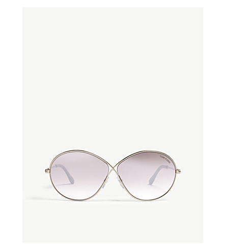 3306a426582bc TOM TOM Rania oval-frame sunglasses (Gold+pink
