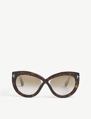 4a61a169db TOM FORD - Diane-02 TF577 butterfly-frame sunglasses