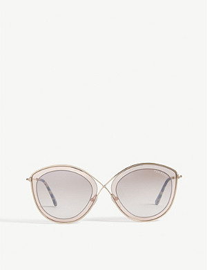ef1e296304e TOM FORD - Emma tortoiseshell cat-eye frame sunglasses