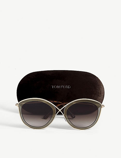 ab6a119c4a6 TOM FORD Sacha cat-eye-frame sunglasses. Quick Shop
