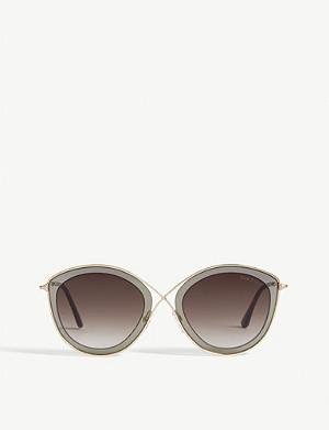 c44e76c59f110 TOM FORD - Diane-02 TF577 butterfly-frame sunglasses