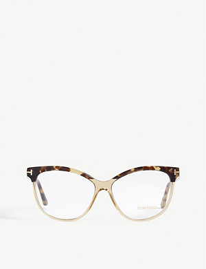 TOM FORD FT5511 tortoiseshell-trim acetate glasses
