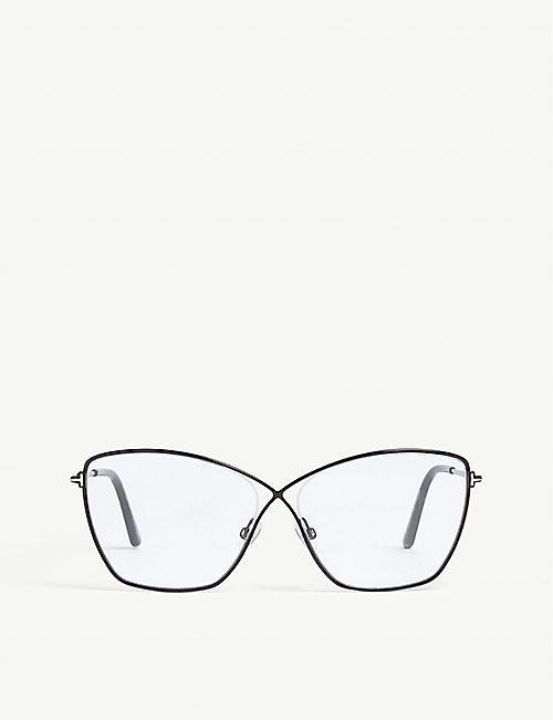 TOM FORD: Ft5518 butterfly-frame optical glasses