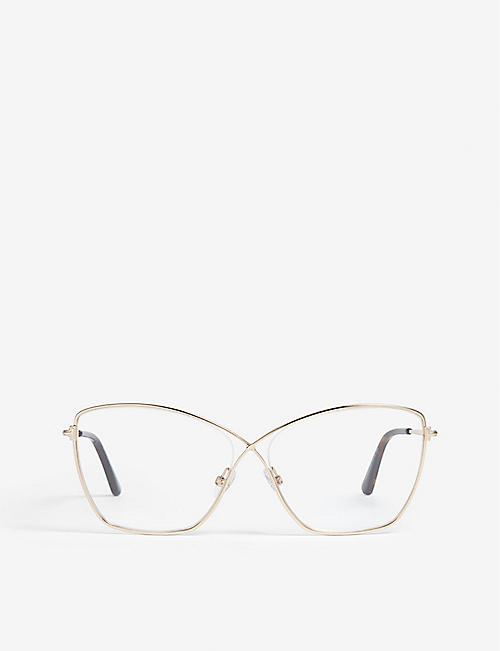 62e9e7719dc TOM FORD Ft5518 butterfly-frame optical glasses