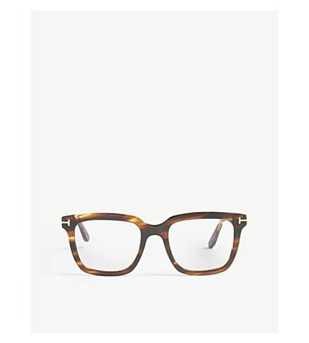 04d2a34753b TOM FORD Marco angular-frame acetate glasses (Brown