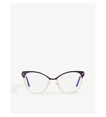 300c8ce892 TOM FORD Ft5530 cat-eye frame optical glasses (Violet