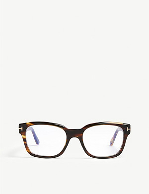 TOM FORD FT5535-B acetate tortoiseshell glasses