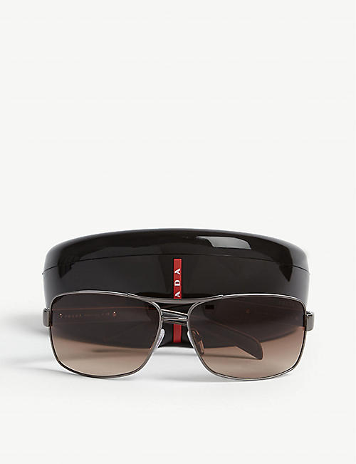 PRADA LINEA ROSSA PS54I rectangle-frame sunglasses