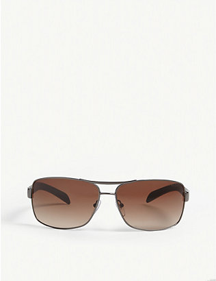 PRADA LINEA ROSSA: PS54I rectangle-frame sunglasses