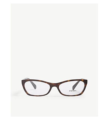 d3adb661a94ba PRADA - PR15P cat-eye-frame Havana glasses