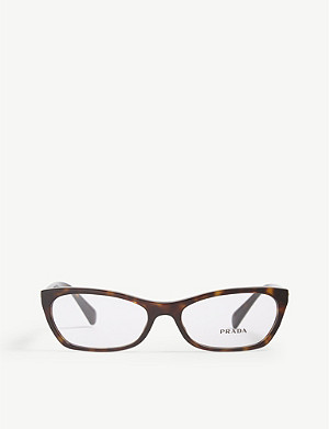 PRADA PR15P cat-eye-frame Havana glasses