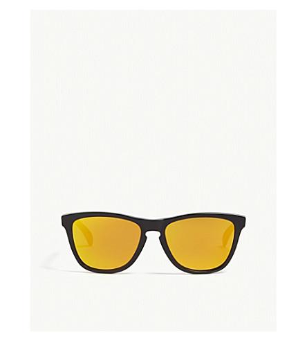 e03afa609f OAKLEY Frogskins Valentino Rossi square-frame sunglasses (Black