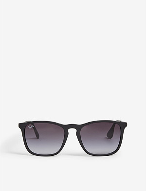 RAY-BAN Chris RB4187 square-frame rubber sunglasses