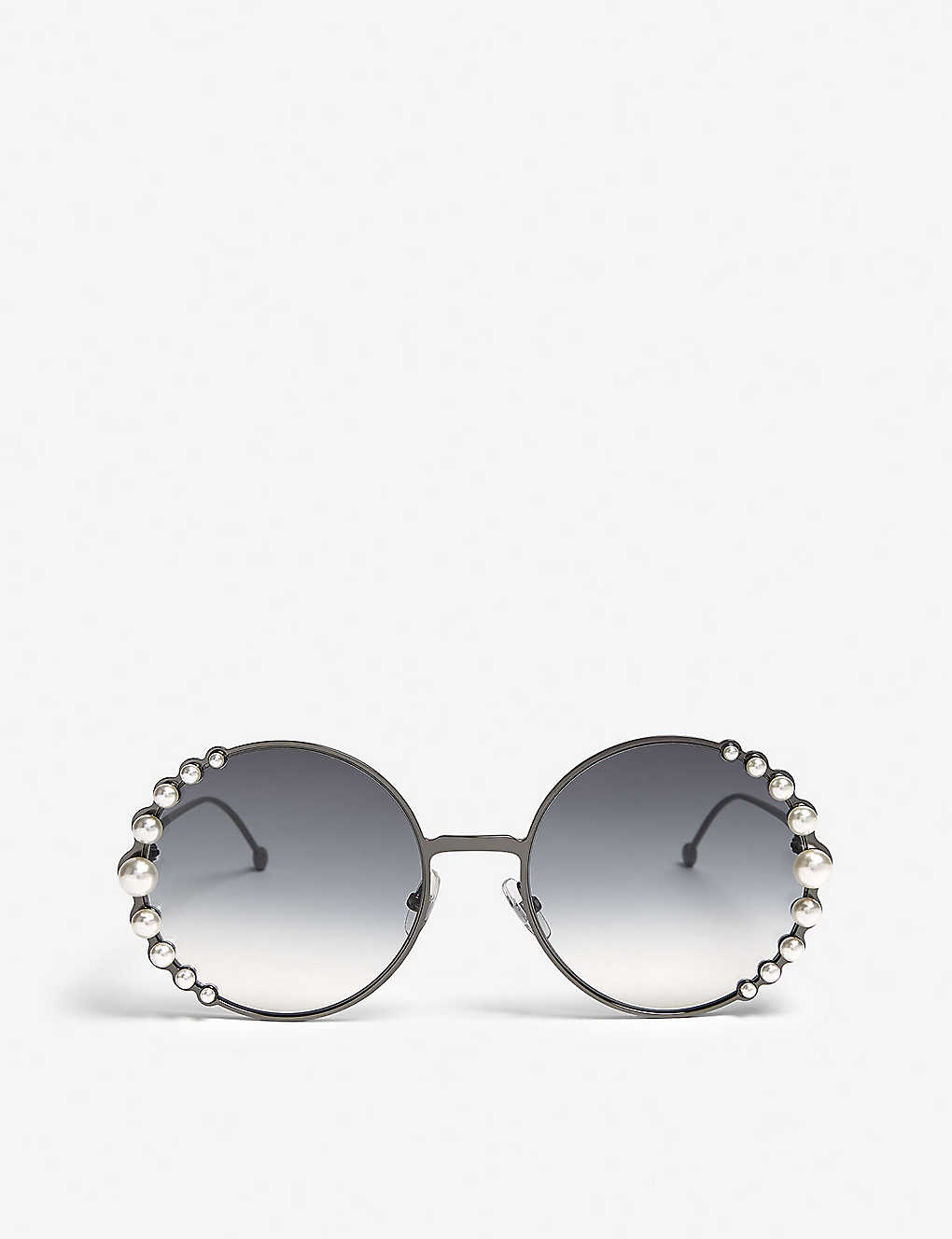 98749903701 FENDI - Ribbons and Pearls oversized round-frame sunglasses ...