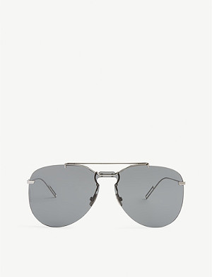 DIOR 0222S frameless pilot sunglasses