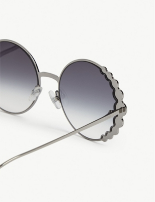 24f131b496 Fendi Ff0324 S Ribbons   Crystals Round-Frame Sunglasses In Silver ...
