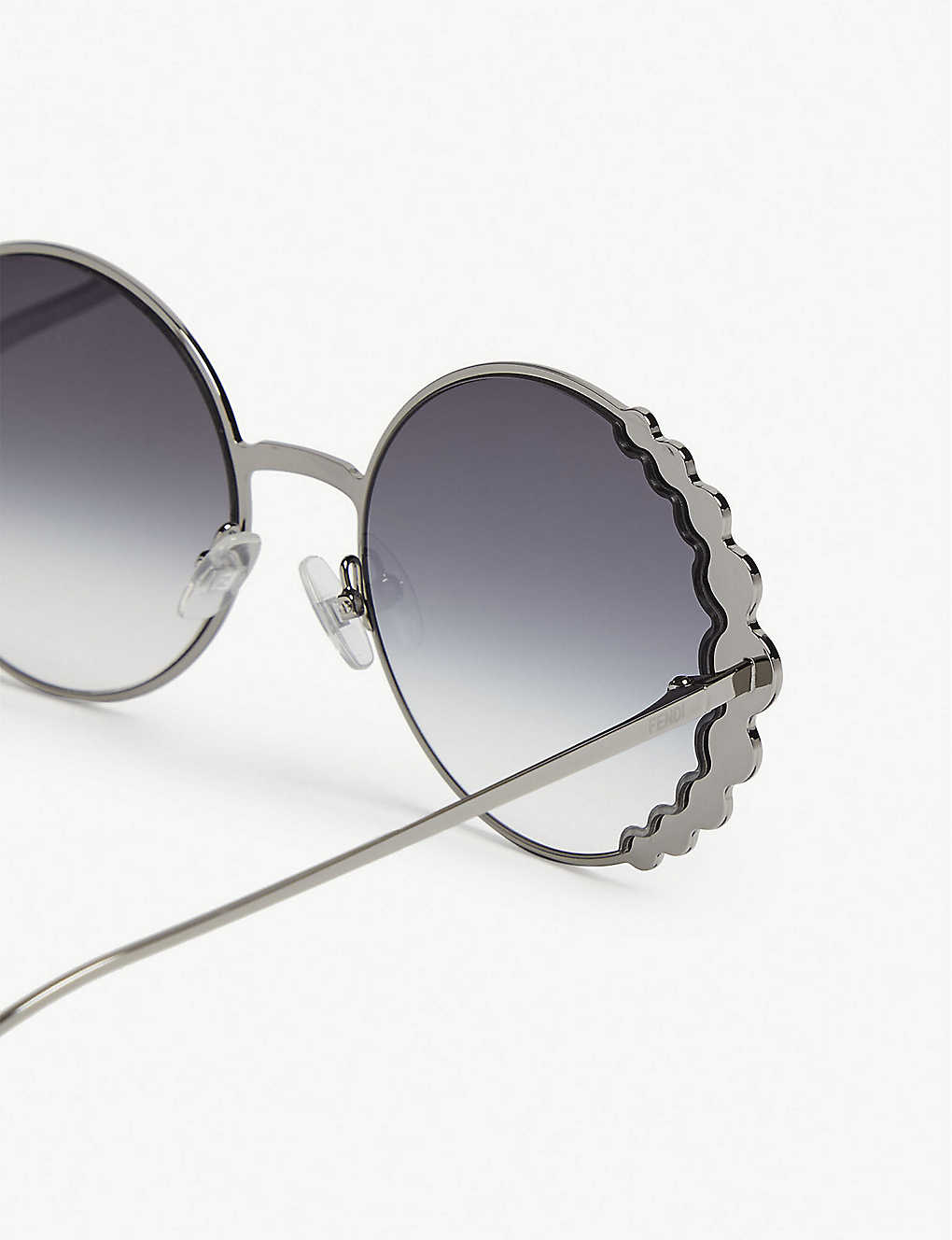 43c5e9b84b ... FF0324 S Ribbons   Crystals round-frame sunglasses - Silver zoom