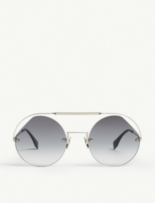 FENDI FF0325/S Ribbons & Crystals round-frame sunglasses