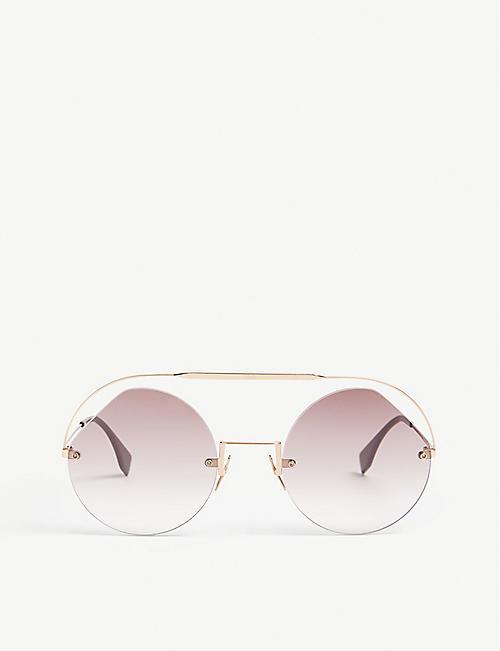 7e94c4887edb FENDI FF0325 s round-frame sunglasses