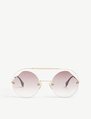 61aac4f902 FENDI - Ff0324 s round-frame sunglasses