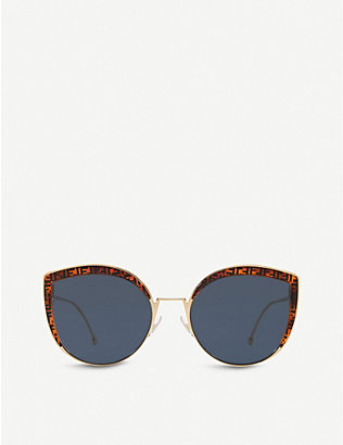 FENDI: FF0290/S cat-eye frame sunglasses