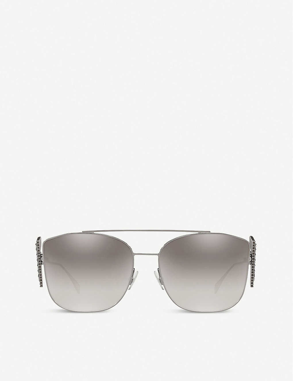 FENDI: FF0380 metal and acetate sunglasses