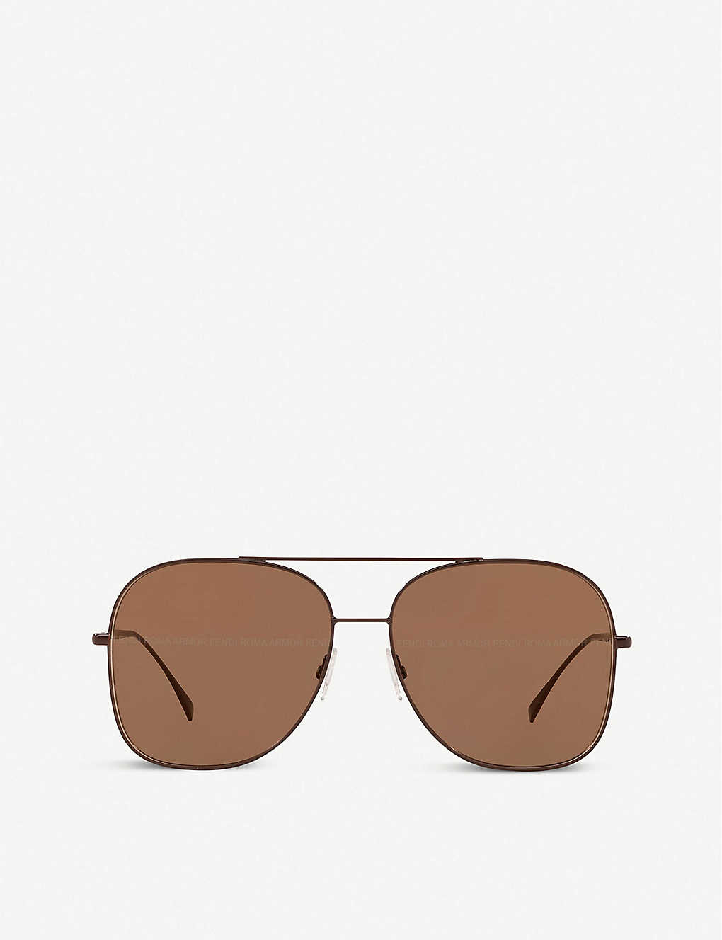 FENDI: FF0378 metal pilot-frame sunglasses