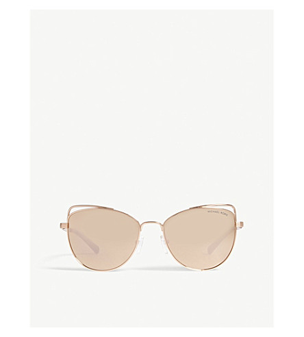 1ecdbe5b60fc MICHAEL KORS Michael Kors Rose Gold St. Lucia Cat's Eye Sunglasses MK1035 ( Rose+