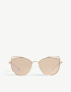 f3bc26d5723 MICHAEL KORS Michael Kors Rose Gold St. Lucia Cat s Eye Sunglasses MK1035