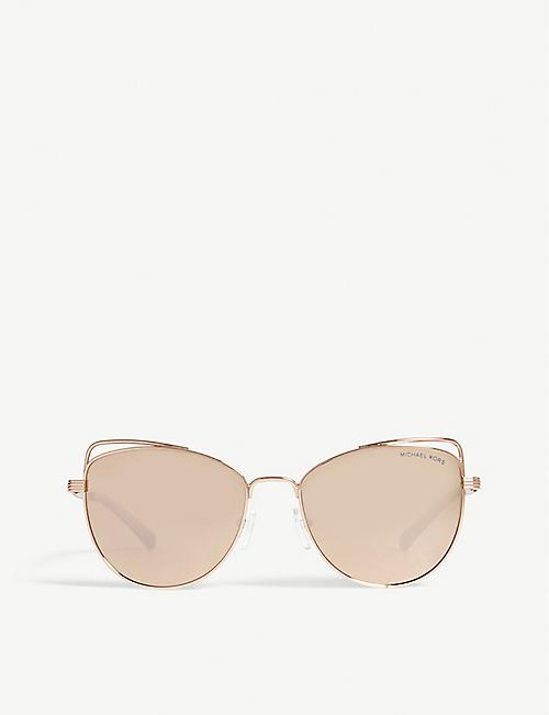 82b48acb69ab MICHAEL KORS Michael Kors Rose Gold St. Lucia Cat's Eye Sunglasses MK1035