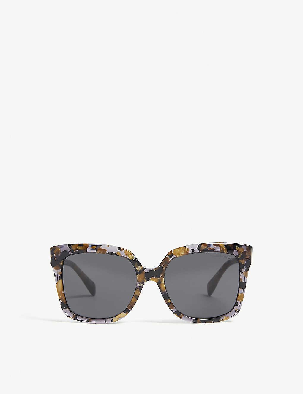 05a10e6d3d5e4 MK2082 Cortina square-frame sunglasses - Blackgold tort ...