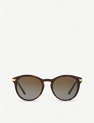 MICHAEL KORS: Adrianna MK2023 metal and acetate butterfly-shape sunglasses