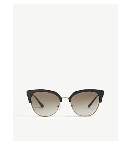 a4cb7298f2 ... MICHAEL KORS Savannah round cat-eye frame sunglasses (Black.  PreviousNext