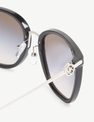 143d548b7a Michael Kors Lugano Square-Frame Sunglasses In Black