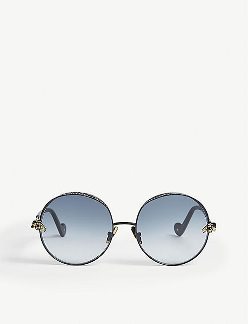 ANNA-KARIN KARLSSON: The Bee acetate round sunglasses