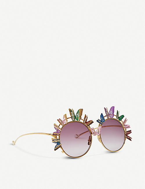 ANNA-KARIN KARLSSON The Butterfly round-frame sunglasses