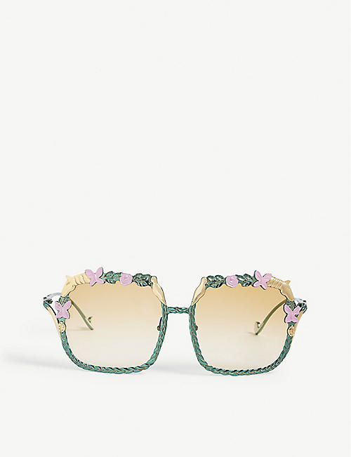 ANNA-KARIN KARLSSON: The Garden square-frame sunglasses