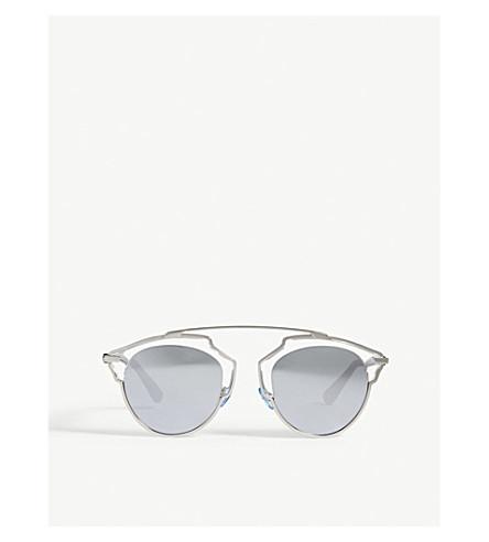 956ea450cd DIOR So Real clear oval-frame sunglasses (Clear