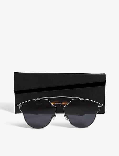 62006b28a4b40 DIOR Dior So Real Pop pilot-frame sunglasses. Quick Shop