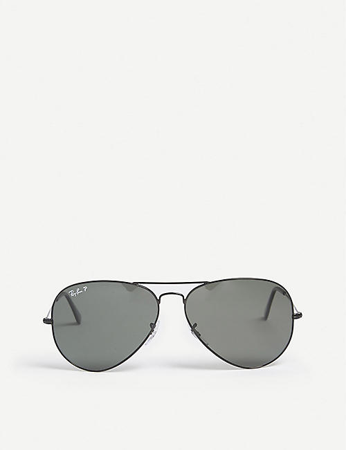 RAY-BAN Original aviator metal-frame sunglasses RB3025