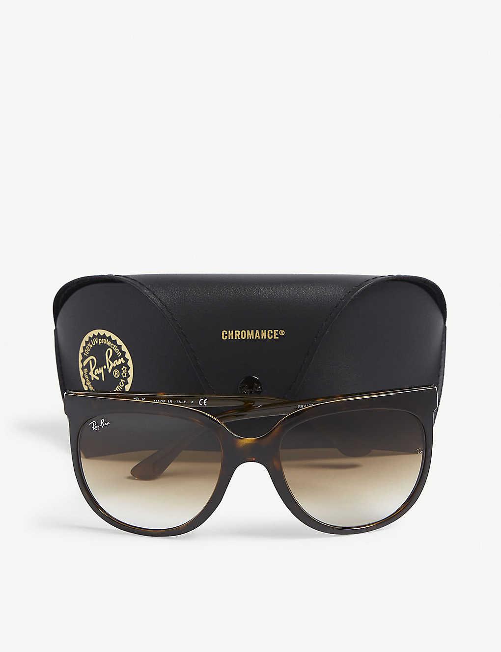 9f0c5db1aaaa0 ... RB4126 tortoiseshell square-frame sunglasses - Havana ...